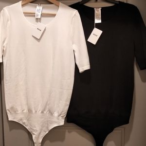 Two NEW with tags Wolford String bodysuits L